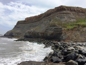 Coastal cliff at Whitby, North Yorkshire